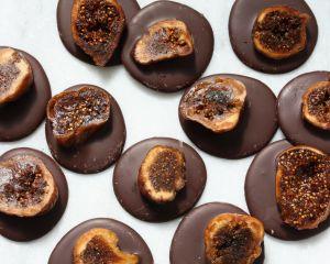 Chocolade gedroogde vijgen