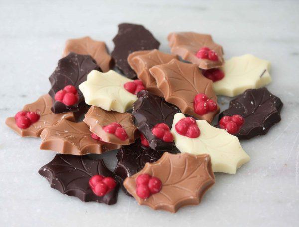 Chocolade hulstblaadjes